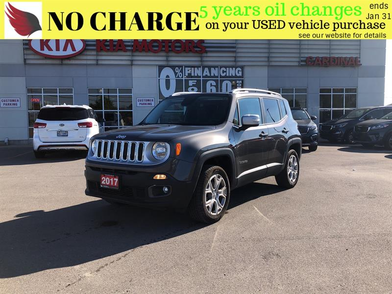 2017 Jeep Renegade LIMITED*NAVIGATION*4X4*LEATHER #8021
