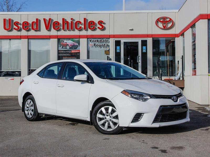 2015 Toyota Corolla LE   H.Seats   R.Cam   B.Tooth   Keyless #L7778