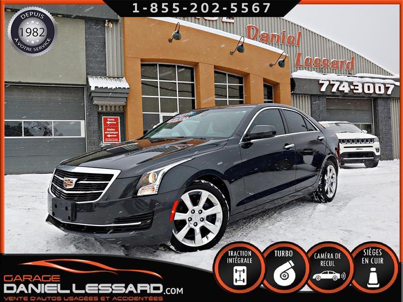 Cadillac ATS 2016 AWD (4x4), CUIR, CAMÉRA, 2.0 L TURBO, PRÊT ! #67423