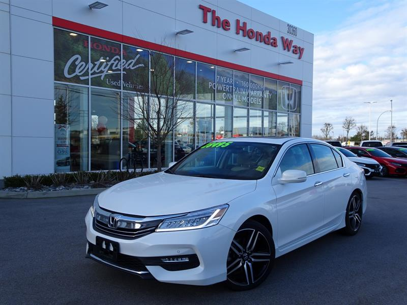 2016 Honda Accord Touring V6 Sedan 6-Spd AT Warranty until 2023/160, #19-121A