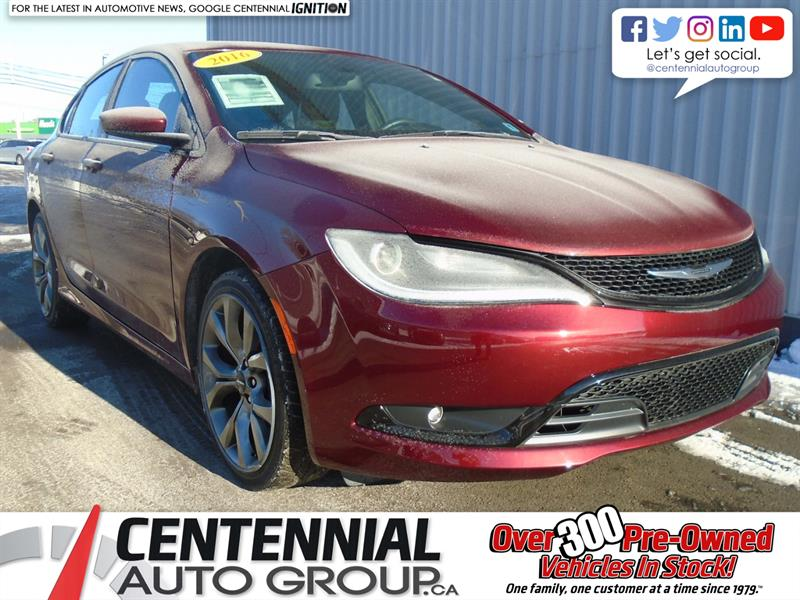 2016 Chrysler 200 S V6 #U808A