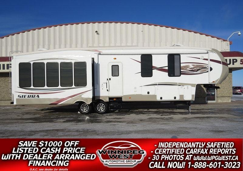 2014 Forest River SIERRA 355RE 41FT 5 SLIDES, REAR LOUNGE, ISLAND