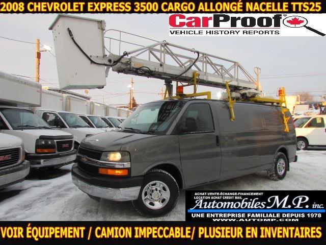 Chevrolet Express 3500 2008 CARGO ALLONGÉ NACELLE TTS25 #7280