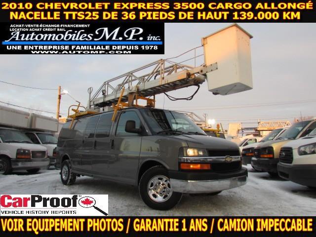 Chevrolet Express 3500 2010 CARGO ALLONGÉ NACELLE TTS25 #5567
