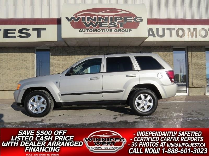 2008 Jeep Grand Cherokee 3.0L DIESEL 4X4, ROOF, LEATH, TOW, 1 OWNER LOW KM #DNW4916