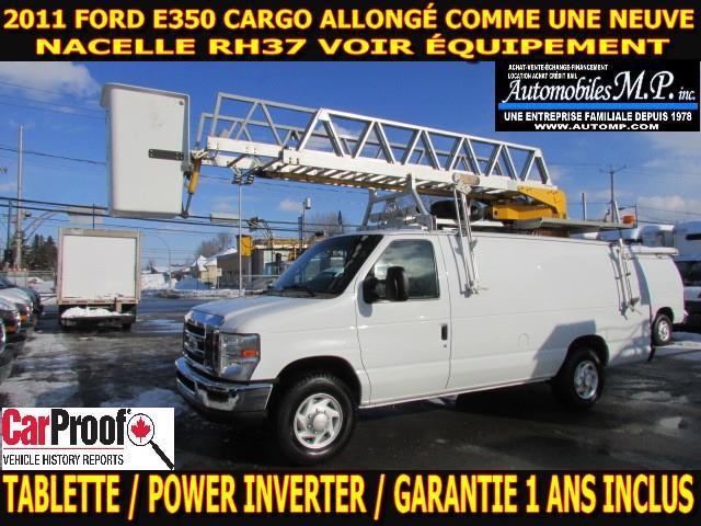 Ford E-350 2011 CARGO ALLONGÉ NACELLE RH37 COMME UNE NEUVE #3724