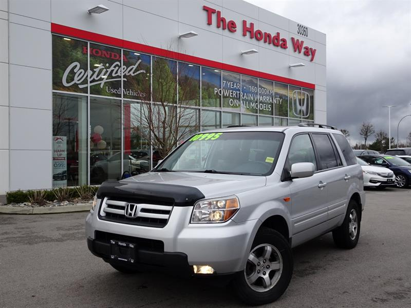 2007 Honda Pilot EX 4WD - LEATHER, BLUETOOTH, POWER DRIVERS SEAT #19-201A