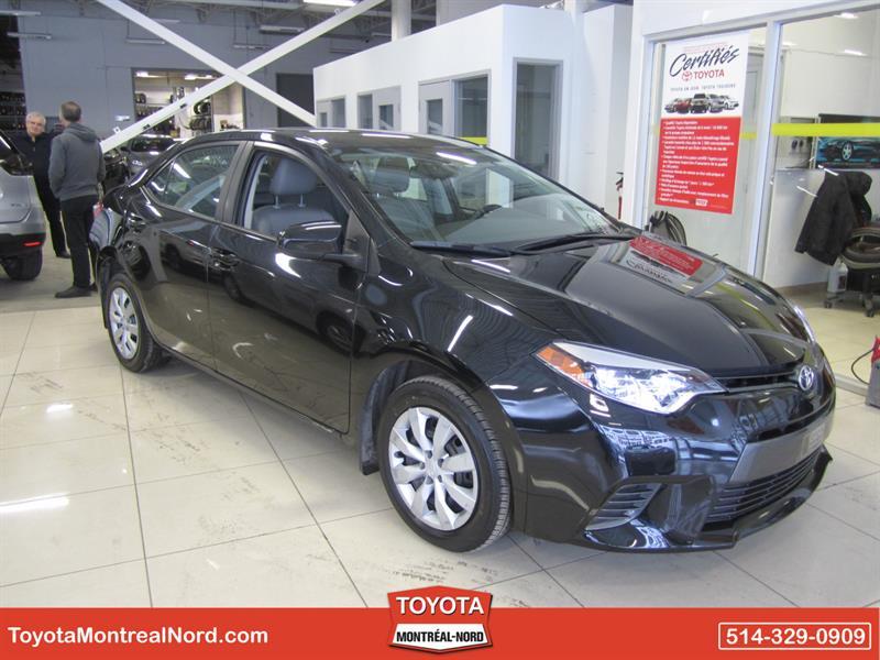 Toyota Corolla 2015 LE CVT Aut/Ac/Vitres,Portes,Miroirs Electriques  #3509 AT
