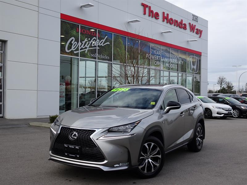 2017 Lexus NX 200t AWD, LEATHER, SUNROOF, BACK UP CAMERA, HEATED SEAT #P5307
