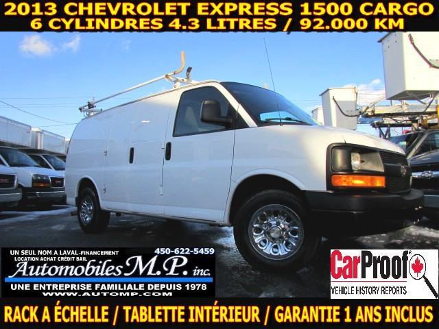 Chevrolet Express 1500 2013 CARGO 92.000 KM 6 CYLINDRE RACK A ÉCHELLE TABLETTE #256