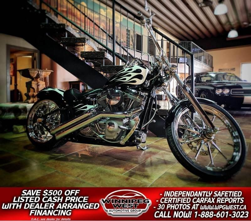 2005 Harley Davidson FXST Softail FULL CUSTOM, 240 REAR TIRE, OVER $40K INVESTED!! #W4481