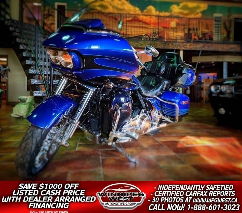 2015 Harley Davidson FLTRUSE CVO ROAD GLIDE ULTRA , 110 CU INCH, LOADED & SHARP!! #W4412