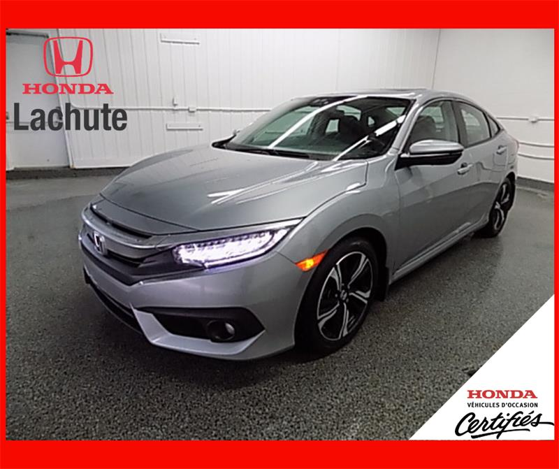 Honda Civic 2017 TOURING/ CUIR/ NAV/ TURBO/  GARANTIE 2024 #19-180A
