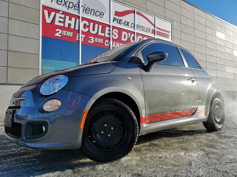 Fiat 500 2012 2dr HB Sport+CUIR+TOIT+MAGS++WOW! #UD4922A