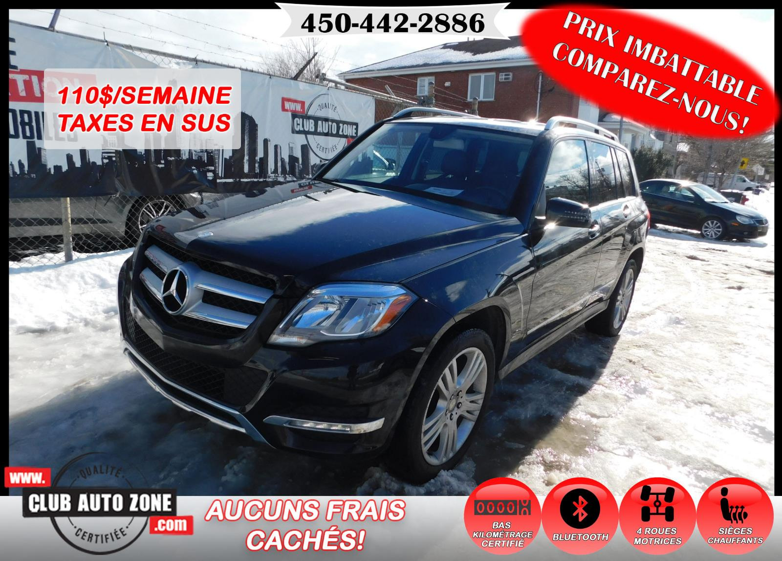 Mercedes-Benz GLK-Class 2014 GLK 250 AWD  DIESEL AUTOMATIQUE BLUETOOTH #EG234679