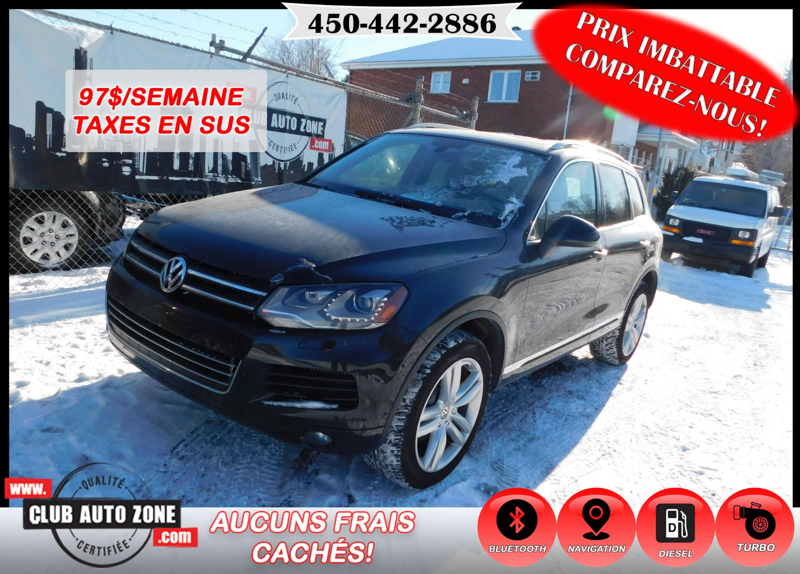 Volkswagen Touareg 2013 HIGHLINE TDI AUTOMATIQUE BLUETOOTH #DD010231