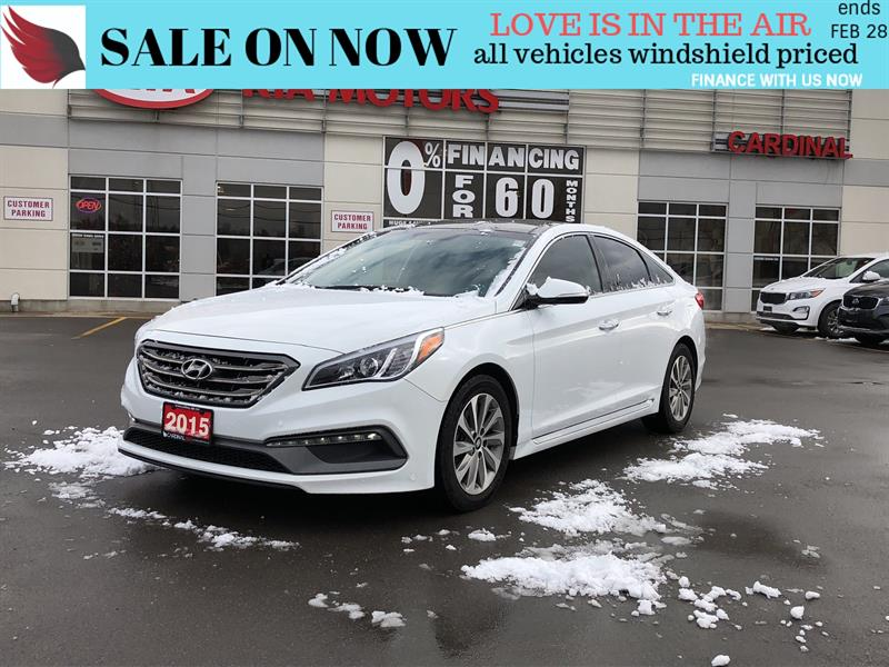 2015 Hyundai Sonata SPORT*PANO ROOF*LEATHER/CLOTH*HEAT SEATS AND WHEEL #OP19101A