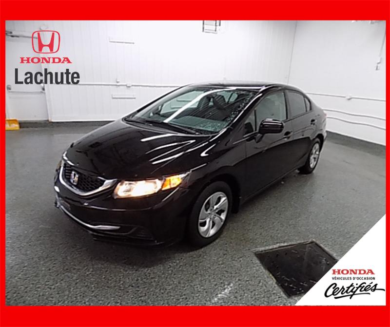 Honda Civic Sedan 2015 LX/ AUTO/ GARANTIE 2022 #HU-2597
