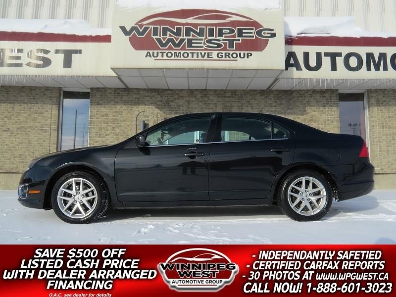 2010 Ford Fusion SEL AWD, 3.0L V6 HTD LEATHER, CLEAN LOCAL TRADE #W4952