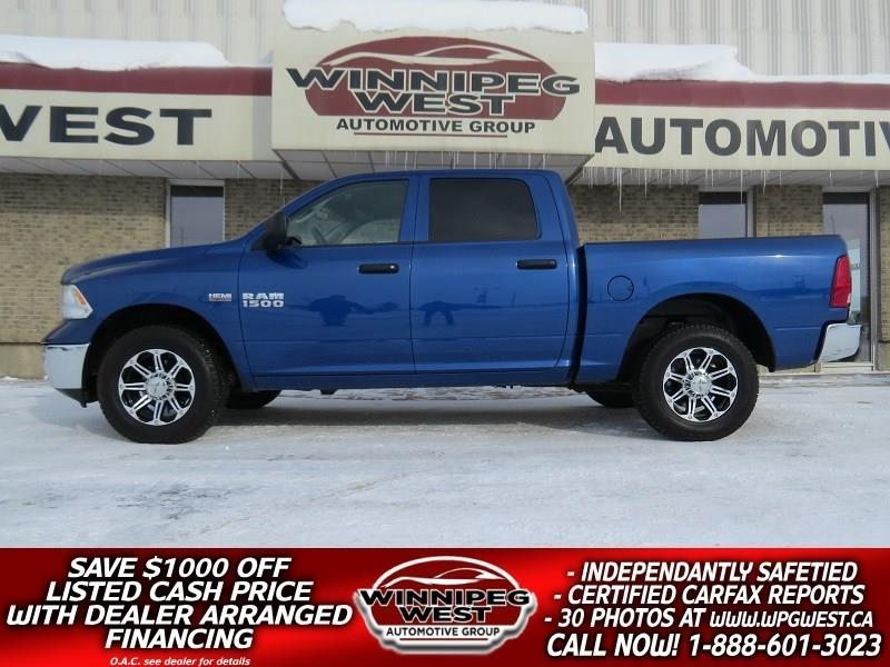 2016 Ram 1500 CREW 5.7L HEMI V8  4X4, LOCAL 1 OWNER, ONLY 12KMS! #GW4266