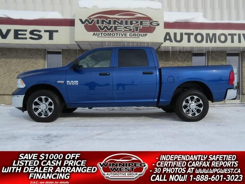 2016 Ram 1500 CREW 5.7L HEMI V8  4X4, LOCAL 1 OWNER, ONLY 12KMS! #GW4266A