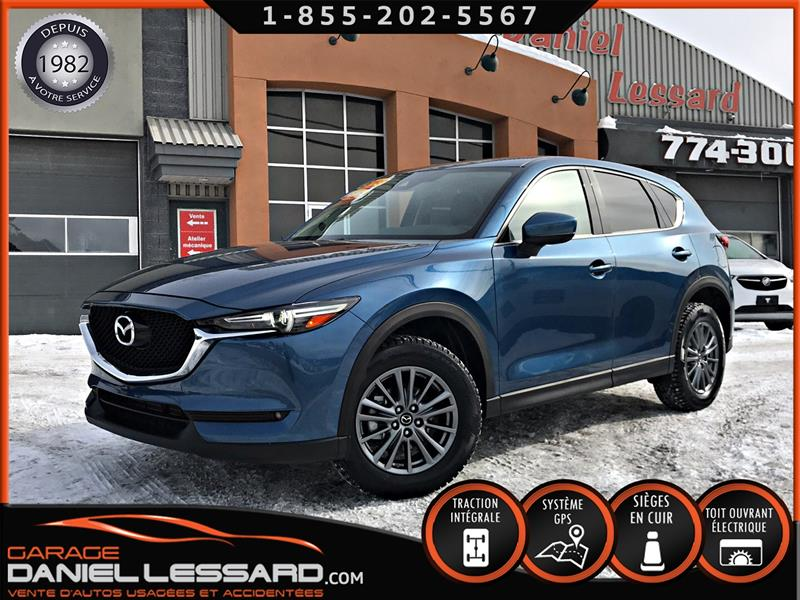 Mazda CX-5 2018 GT AWD, CUIR, TOIT, GPS, ANGLES MORT, CLEAN TITLE! #89002