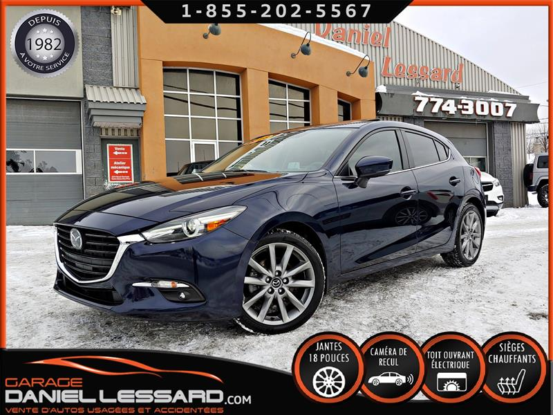 Mazda Mazda3 Sport 2018 GT, AUTO, TOIT, CUIR, CAM RECUL, HEAD UP, A VOIR #89079