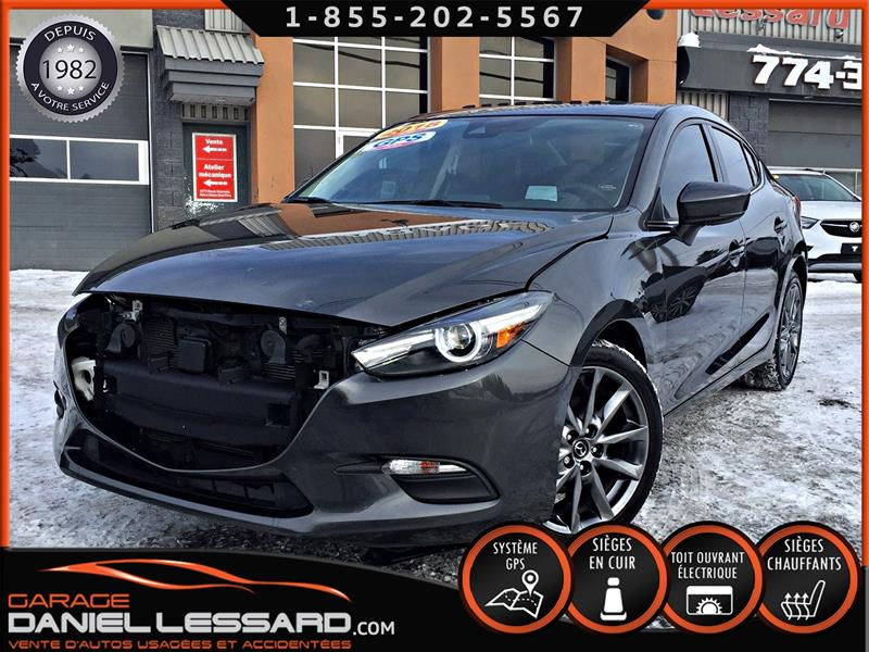 Mazda Mazda3 2018 GT, CUIR, TOIT, GPS, CRUISE ADAP, DÉMARREUR ET ++ #89053