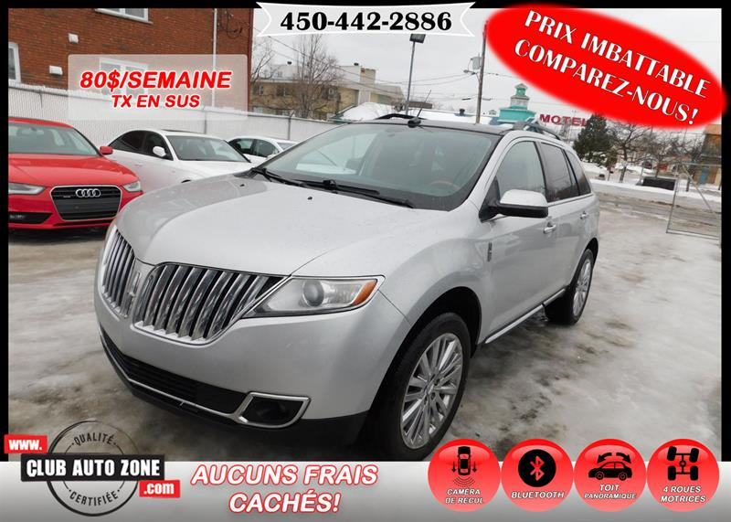 Lincoln MKX 2011 AWD TOIT PANORAMIQUE CAMÉRA DE RECUL BLUETOOTH #BBJ24468