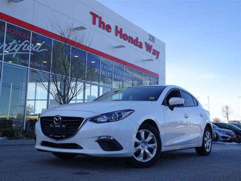 2015 Mazda Mazda3 GX BLUETOOTH, ALLOY WHEELS, NO ACCIDENTS #19-49D