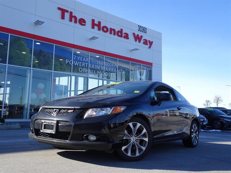 2012 Honda Civic Si Coupe 6-Speed MT - SUNROOF, BLUETOOTH, NAVI, B/ #P5319