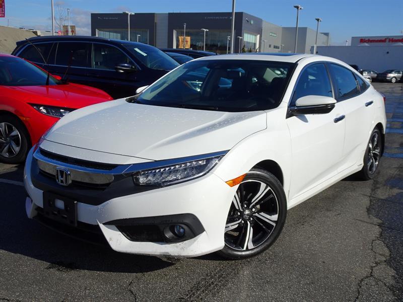 2016 Honda Civic Sedan Touring CVT! Honda Certified Extended Warran #LH8566