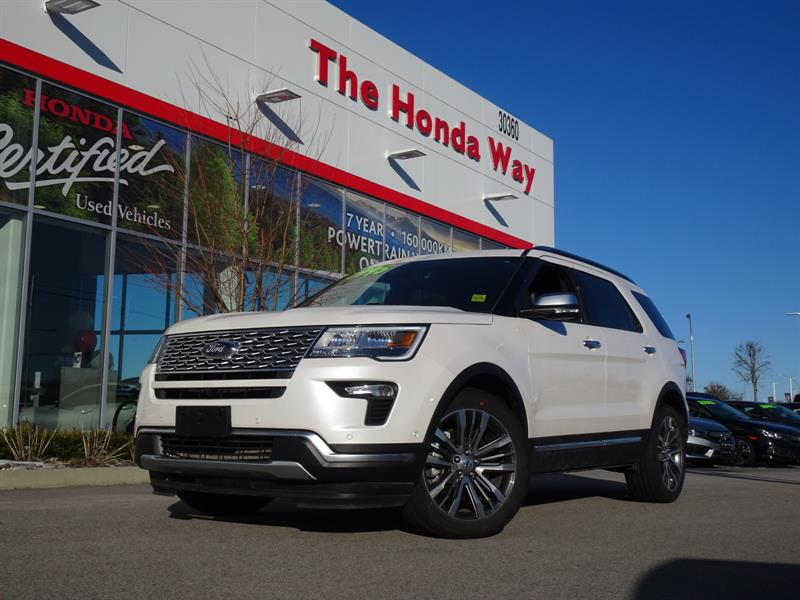 2018 Ford Explorer Platinum AWD, HEATED SEATS, BLUETOOTH, LEATHER, SU #P5333