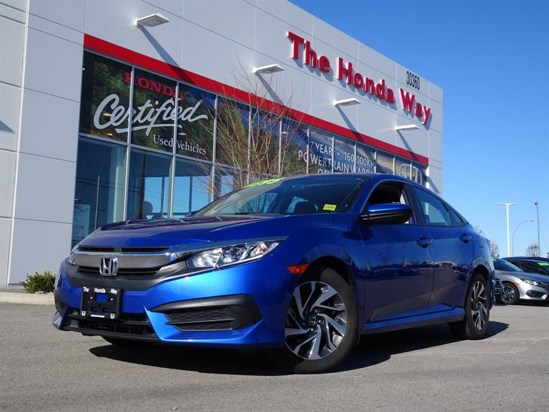 2016 Honda Civic EX, HEATED SEATS, ALLOY WHEELS, BLUETOOTH, under w #19-277A