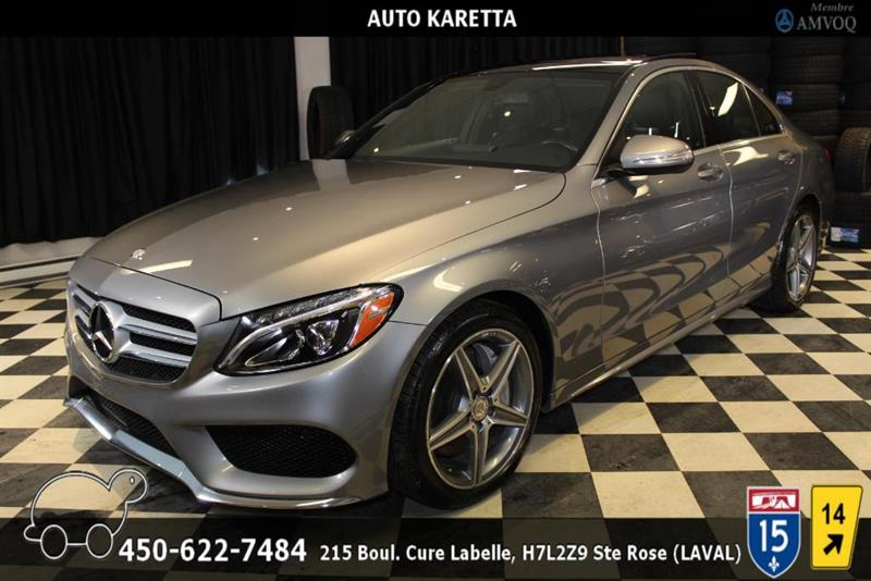 Mercedes-Benz C-Class 2015 C300 4MATIC SPORT AMG NAVI/TOIT PANO/CAMERA/LED #AS9031