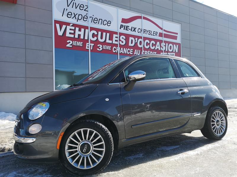 Fiat 500 2015 2dr HB Lounge+toit+cuir+mags #UD5146