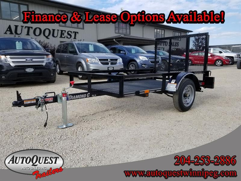 "2019 Diamond C RLR 7' x 49"" Single Axle Utility Trailer"