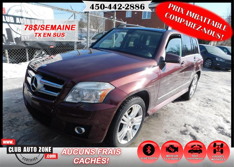 Mercedes-Benz GLK-Class 2010 GLK 350 4MATIC TOIT PANORAMIQUE BLUETOOTH #AF422785