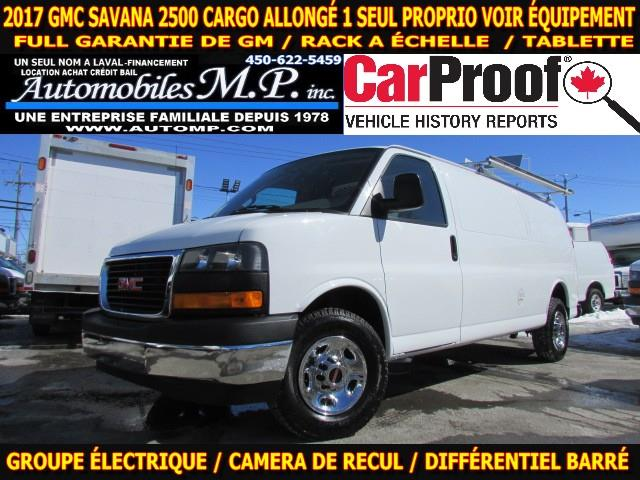 GMC Savana 2500 2017 CARGO ALLONGÉ RACK A ECHELLE TABLETTE  #0190