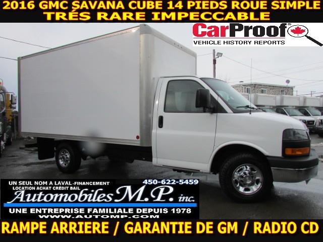 GMC Savana 3500 2016 CUBE 14 PIEDS ROUE SIMPLE #4388
