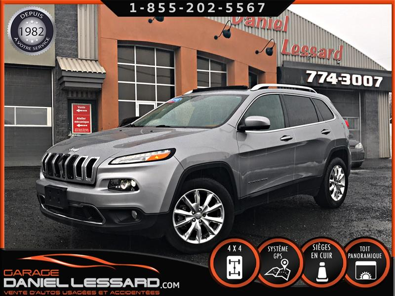 Jeep Cherokee 2016 4X4 LIMITED V6 3.2L, CUIR, TOIT PANO, GPS ET +++ ! #69100
