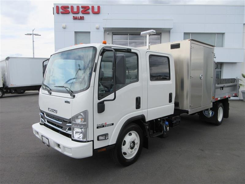2019 Isuzu NRR Crewcab 9Ft Dump & 5 Ft Mower Cabinet #SPECIALTY BUILD