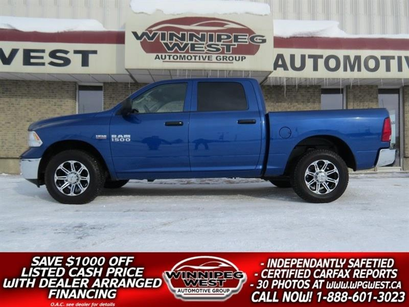 2016 Dodge Ram 1500 CREW 5.7L HEMI V8  4X4, LOCAL 1 OWNER, ONLY 12KMS! #GW4266