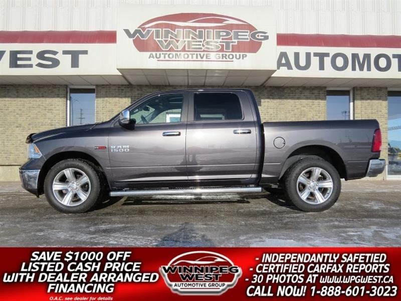 2015 Dodge Ram 1500 CREW ECODIESEL 4X4, LOAD, HTD SEAT, SUNROOF, LOCAL #DW4622A