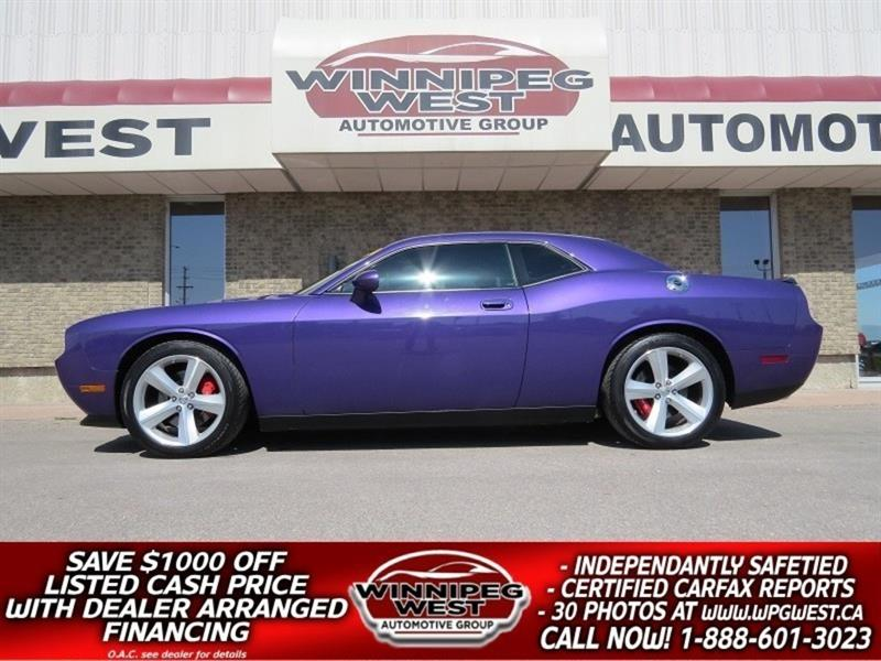 2010 Dodge Challenger SRT8 ICONIC PLUM CRAZY PURPLE MONSTER, 425HP, LOAD #W4721