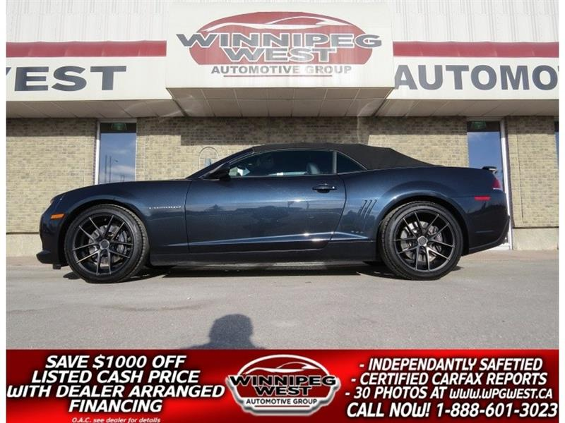 2014 Chevrolet Camaro 2SS CONVERT, FULLY LOADED, FLAWLESS & SHARP! #W4844