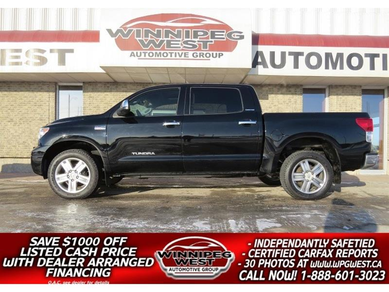 2012 Toyota Tundra LIMITED CREW MAX 4X4, ROOF, LEATHER, MB TRUCK! #GW4843