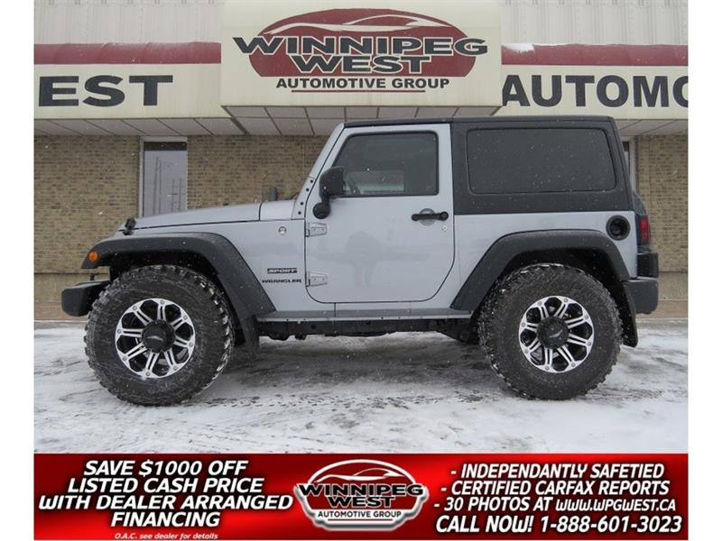 2014 Jeep Wrangler SPORT 4X4, AIR, SATELLITE & MORE! #GNW4795