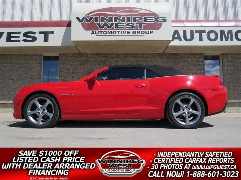 2014 Chevrolet Camaro 2LT RS CONVERT, LEATHER, HUD, LOW KMS & FLAWLESS! #W4084