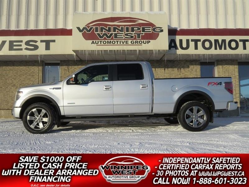 2013 Ford F-150 FX4 LUXURY CREW 4X4, LOCAL TRADE, LEATH & MORE! #GW4927